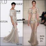 Chanel Iman  In Marchesa  – amfAR's 23rd Cinema Against AIDS Gala