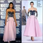 Chanel Iman  In  Ralph and Russo  at L'Oreal Paris Blue Obsession Party –  69th Annual Cannes Film Festival