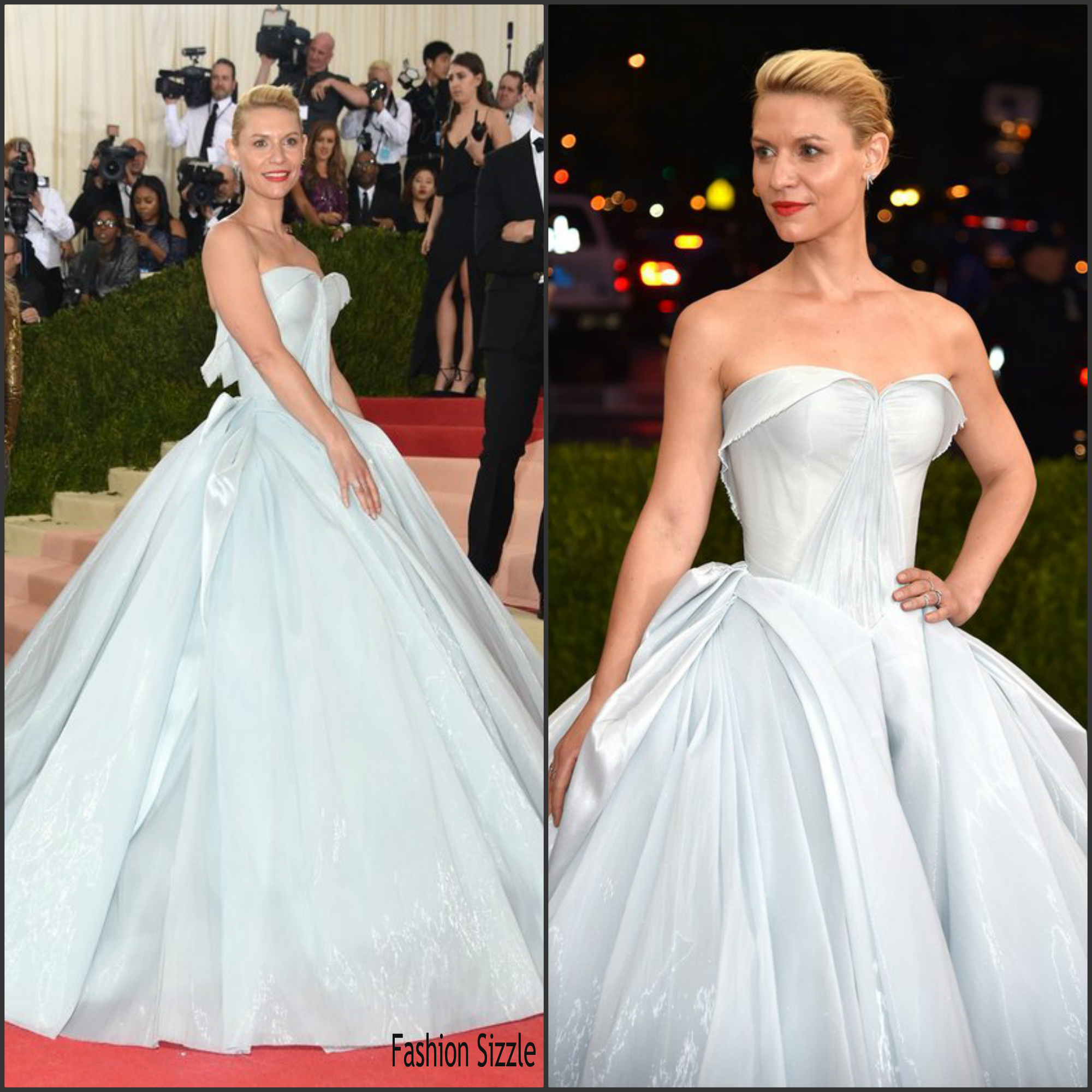 Claire Danes In Zac Posen At The 2016 MET Gala