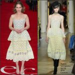 Emilia Clarke in Ulyana Sergeenko Couture at  Me Before You London Premiere
