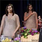 First Lady Michelle Obama  in Givenchy – White House Correspondents Dinner 2016