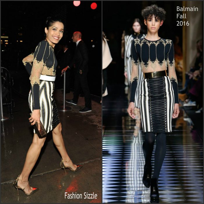 Freida Pinto was spotted arriving at a Met Gala After Party on May 2, 2016.