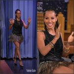Jada Pinkett Smith In Jitrois & Valentino at  The Tonight Show starring  Jimmy Fallon