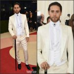 Jared Leto  in Gucci –  2016 Met  Gala