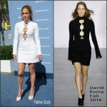 Jennifer Lopez In David Koma  at the 2016 NBCUniversal Upfront Presentation