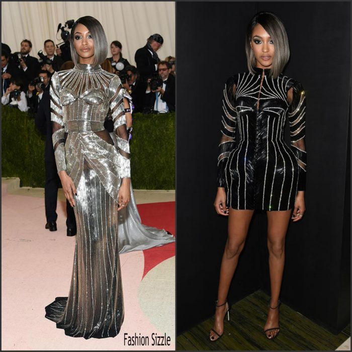 """Jourdan Dunn   attends the """"Manus x Machina: Fashion In An Age Of Technology"""" Costume Institute Gala at Metropolitan Museum of Art on May 2, 2016 in New York City"""