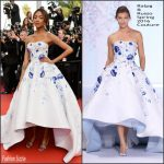 Jourdan Dunn in Ralph & Russo Couture at The Unknown Girl (La Fille Inconnue) 69th Cannes Film Festival Premiere
