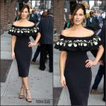 Kate Beckinsale  In Temperley London  at The Late Show with  Stephen Colbert