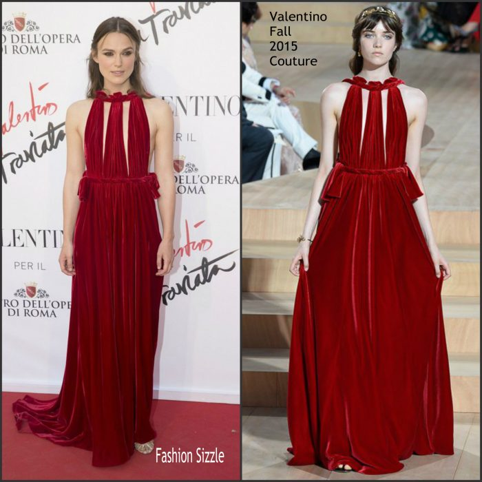 Keira Knightley at the opening night of La Traviata - the Sofia Coppola directed Opera