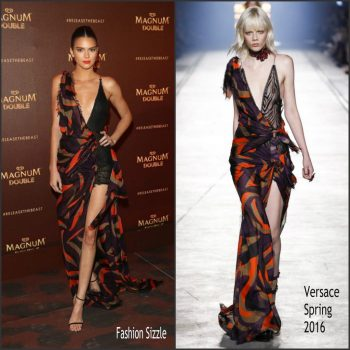 6d4aeff66ad Kendall Jenner In Versace – Magnum Double Party at Cannes Film Festival 2016