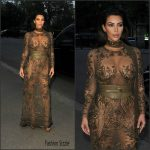 Kim Kardashian in Roberto Cavalli Couture at the 2016 Vogue 100 Gala Dinner