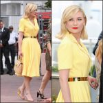 Kristen Dunst  In Christian Dior – Cafe Society  Photocall