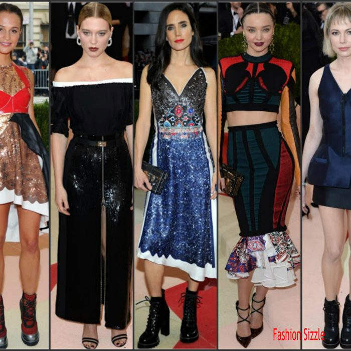 aylor Swift and Selena Gomez   attending the  2016 Met Gala, Manus X Machina-Fashion in an Age of Technology at the Metropolitan Museum of Art in New York on May 2, 2016.  Below ar the other attendees who wore Louis Vuitton