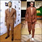 Michael B. Jordan in Ferramo – Lupus LA 2016  Orange Ball