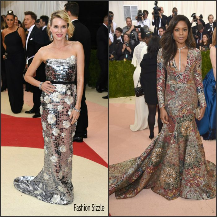Naomi Watts and Naomie Harris  and Blake Livel attended the 2016 MET Gala, Manus X Machina-Fashion in an Age of Technology at the Metropolitan Museum of Art last night in New York on May 2, 2016 .  They alll wore  custom Burberry  gowns