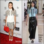 Nina Dobrev in Emanuel Ungaro  at The Creative Coalition's  Celebration of Arts in America