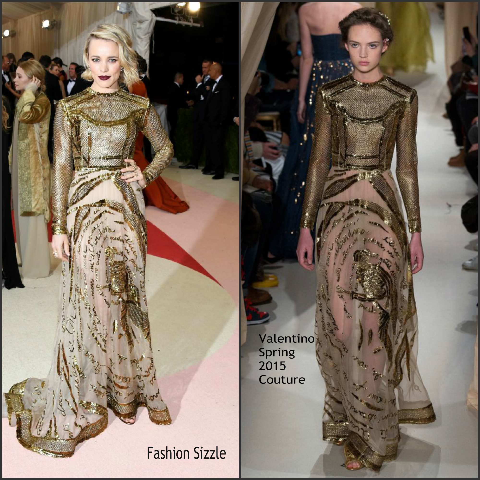 rachel mcadams in valentino couture at the 2016 met gala fashion sizzle. Black Bedroom Furniture Sets. Home Design Ideas