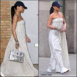 Rihanna  In Brock Collection out and about in New York