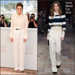 Riley Keough In Sonia Rykiel – at American Honey 69th Cannes Film Festival Photocall