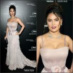 Salma Hayek In Gucci –  Women In Motion Award Dinner at 69th Cannes Film Festival