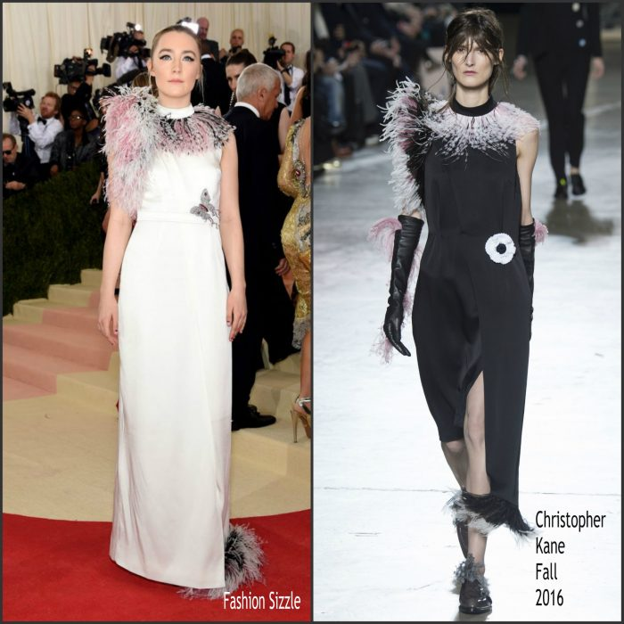 Saoirse Ronan  attended  the 2016 MET Gala, Manus X Machina-Fashion in an Age of Technology at the Metropolitan Museum of Art in New York on May 2, 2016