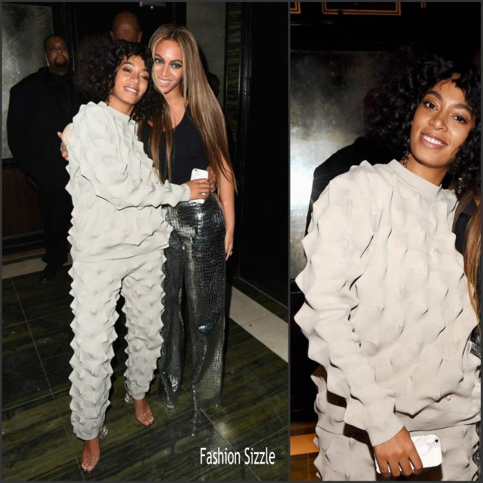 Solange Knowles  was in attendance along with her sister Beyonce  the Balmain  and Oliver Rousteing after party for  2016 Met Gala on Monday night (May 2) in New York City.
