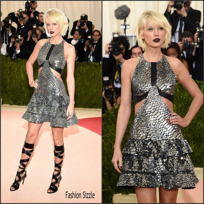 Taylor Swift  attended t the 2016 MET Gala, Manus X Machina-Fashion in an Age of Technology at the Metropolitan Museum of Art in New York on May 2, 2016.