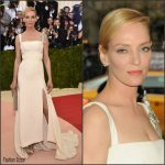 Uma Thurman in  Tommy Hilfiger  –  2016 Met Gala