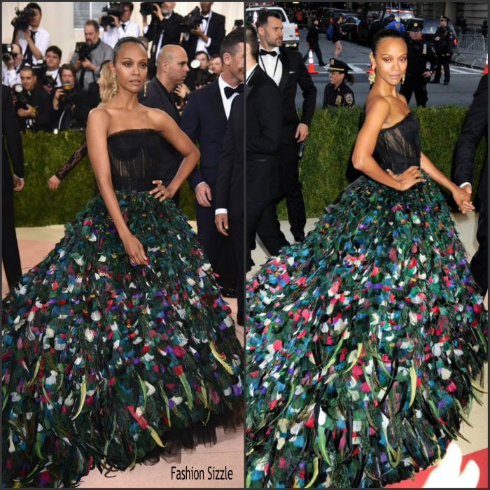<strong>Zoe Saldana</strong>  attended  the 2016 MET Gala, Manus X Machina-Fashion in an Age of Technology at the Metropolitan Museum of Art in  New York on May 2, 2016