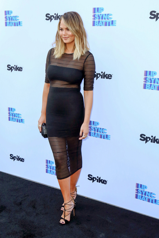 Chrissy-Teigen-Spike-Lip-Sync-Battle-Event-Red-Carpet-Fashion-Blessed-Are-The-Meek-