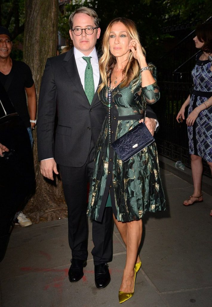 sarah-jessica-parker-in-emanuel-ungaro-at-the-hillary-victory-fund--fundraiser