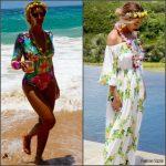 Beyonce in  Maria Hoffman & Sugarbird in Hawaii