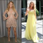 Blake Lively in Elie Saab Couture & Jenny Packham  at the Today Show