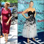 Blake Lively in  Oscar de la Renta & Carolina Herrera Promoting 'The Shallows' in New York