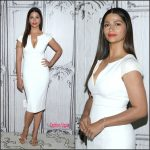 Camila Alves in Amanda Wakeley at AOL Studios