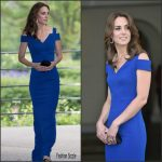 Catherine,  Duchess of Cambridge in Roland Mouret  at  SportsAid 40th Anniversary