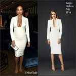 Chrissy Teigen in Sergio Hudson  at GQ Party