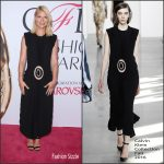 Claire Danes in Calvin Klein Collection at the 2016 CFDA Fashion Awards