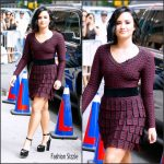 Demi Lovato in Azzedine Alaia at  The Late Show With Stephen Colbert