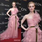 Elle Fanning  in Gucci  at The Neon Demon New York  Premiere