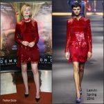 Elle Fanning  In Lanvin at  'The Neon Demon'  Paris Premiere