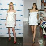 Elle Fanning  in Monse at   Sirius XM Studios