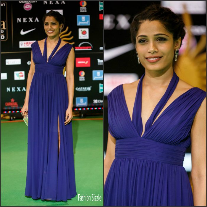 Indian actress Freida Pinto attends the IIFA Rocks awards 2016 at IFEMA on June 24, 2016 in Madrid, Spain.