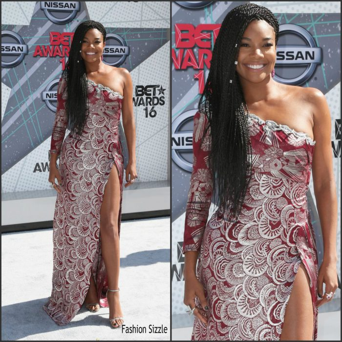 Gabrielle Union  was in attendance at   the 2016 BET Awards at the Microsoft Theater in LA.