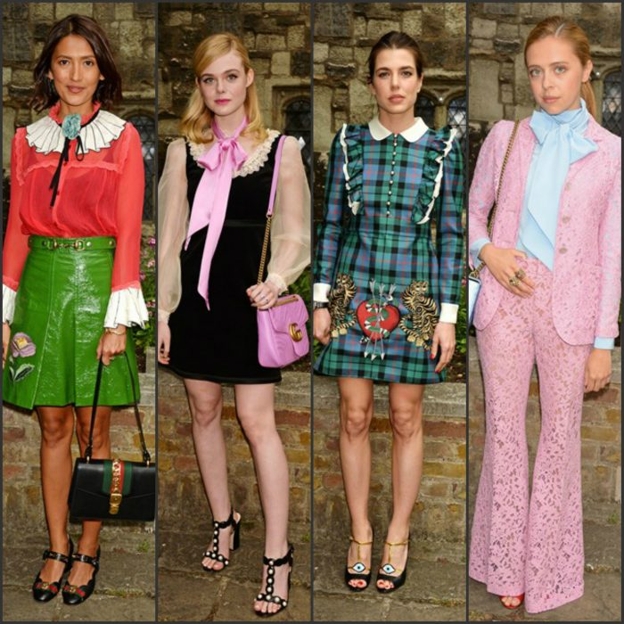 The Gucci Cruise 2017 fashion show at the Cloisters of Westminster Abbey on June 2, 2016 in London, England. Below are some of the attendees.