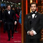 Jake Gyllenhaal  in Salvatore Ferragamo at the 70th Annual Tony Awards