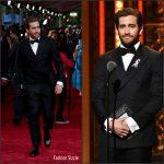 Jake Gyllenhaal  in Salvatore Ferragamo at the 70th Annual Tony Awards