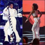Janelle Monáe  in  Sergio Hudson  at the 2016 BET Awards
