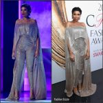 Jennifer Hudson performs in Kaufman Franco at 2016 CFDA Fashion Awards