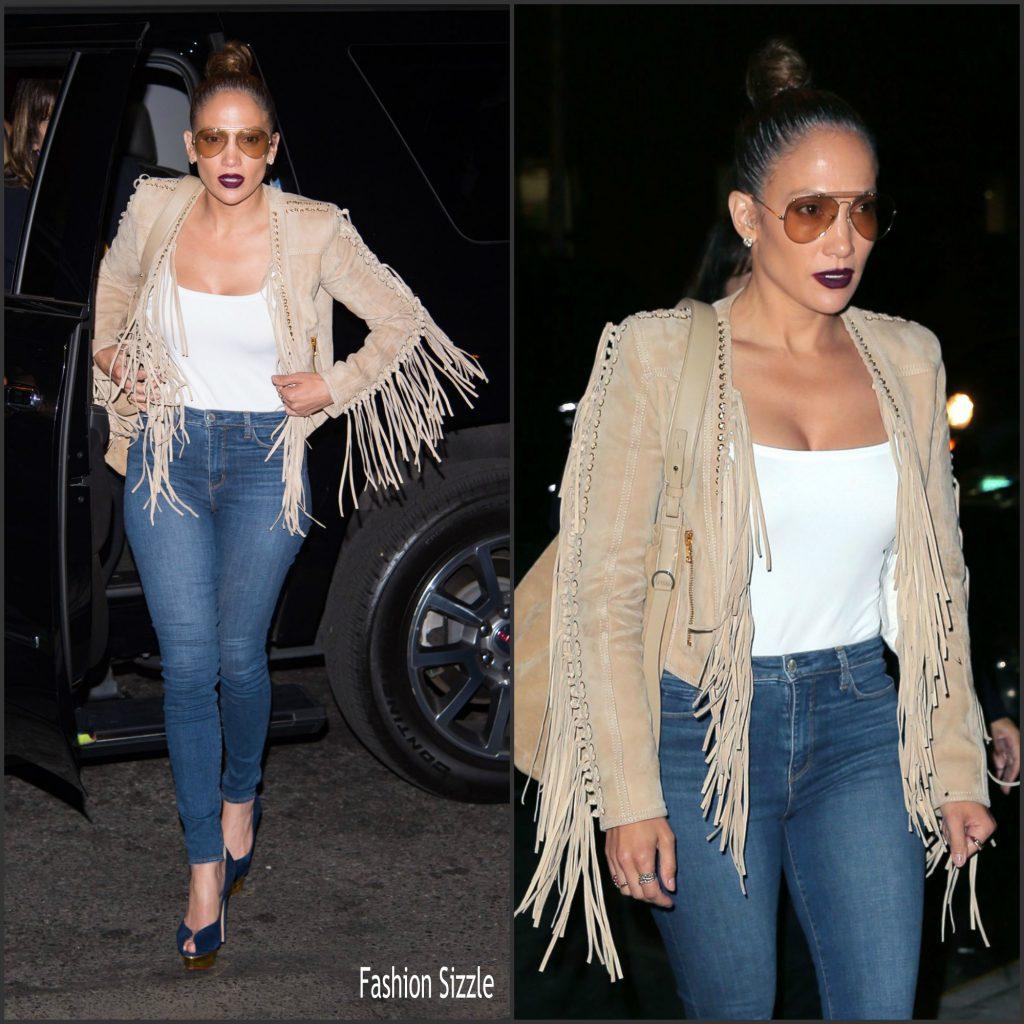 49717543 Jennifer Lopez in Balmain – Out in New York City - Fashionsizzle